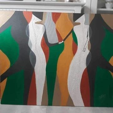 Kobiety - obraz ręcznie malowany 100x80