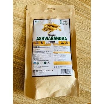 ASHWANGANDHA, Organiczne zmielone ziele, 100 gr
