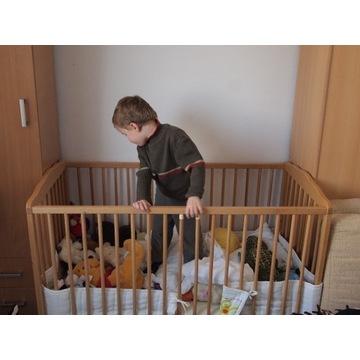 Łóżeczko łóżko dziecięce drewniane 120x60 Wrocław