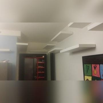 Półki samowiszące ukryte mocowanie