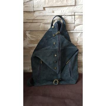 Plecak zamszowy