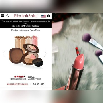 Zestaw kosmetyków Elizabeth Arden bronzer tusz szm