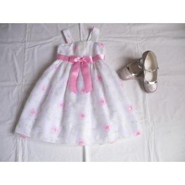 _NOWA piękna szyfonowa sukieneczka 3 /4latka_