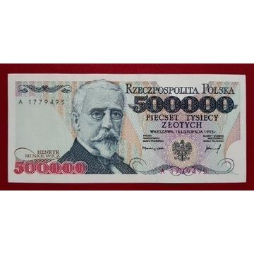 500000 złotych 1993 rok Seria A stan 2