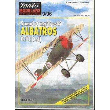 Mały Modelarz 9 1996 ALBATROS model 1:33 oryginaln
