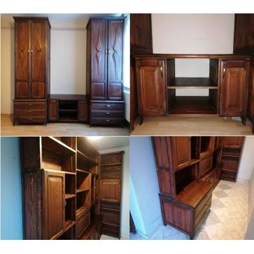 Unikalna sypialnia z litego drewna modrzewiowego