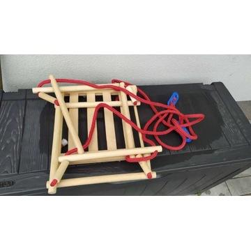 Huśtawka drewniana dla dzieci - wysoka jakość