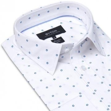 Koszula BYTOM 39/188/194 - biała we wzór