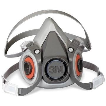 3M Półmaska maska ochronna 6300 L, + Filtry 6055