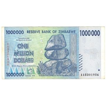 Zimbabwe, 1 000 000 (jeden milion) dolarów, 2008