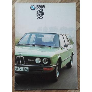 BMW e12 520 525 520i 525i oryginalny prospekt