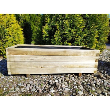 Donica drewniana skrzynia z drewna 100x40 KURIER!!