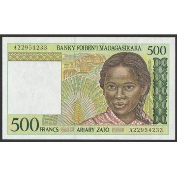 Madagaskar 500 franków 1994 - A22 - stan UNC
