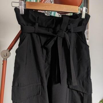 H&M Spodnie z talią paper bag S