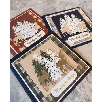 Kartki świąteczne Boże Narodzenie handmade