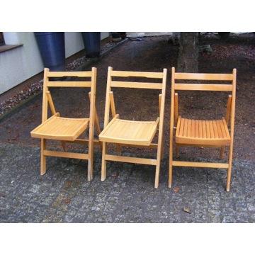 Bukowe , składane krzesła