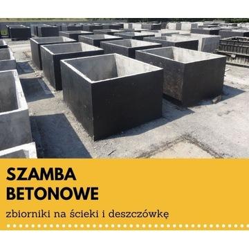 szambo betonowe, zbiorniki na ścieki, szamba