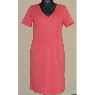 bpc...  Śliczna koralowa sukienka r. 44