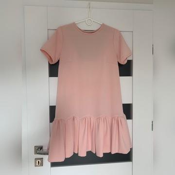Sukienka pudrowy róż Bizuu 36