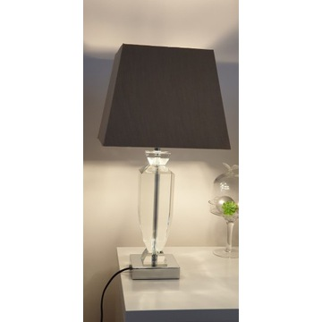 Lampka/Lampa kryształ/szkło stołowa, stojąca 2 szt