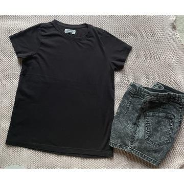 CROPP czarne szorty + t-shirt 158