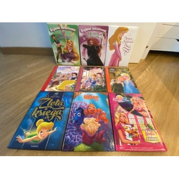 Zestaw 9 książek Disney - księżniczki, Frozen, Nem