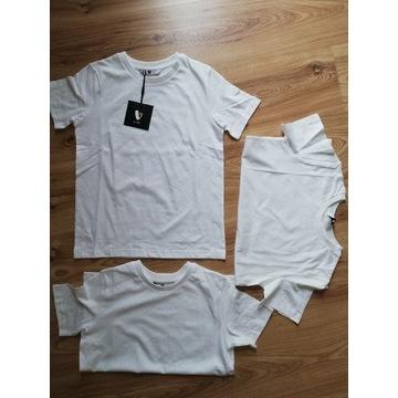 Bluzki białe 3szt rozm 158-164
