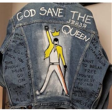 Queen, Freddie Mercury, kurtka ręcznie malowana