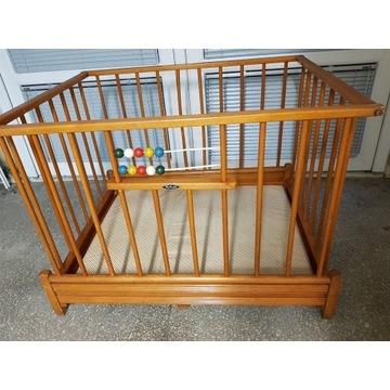 Drewniany kojec zagroda dla dziecka 100x80