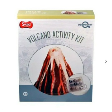 Wykopaliska wulkan , zestaw naukowy Gadżet