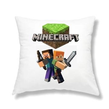 Poduszka jasiek 40x40 Minecraft dla dziecka