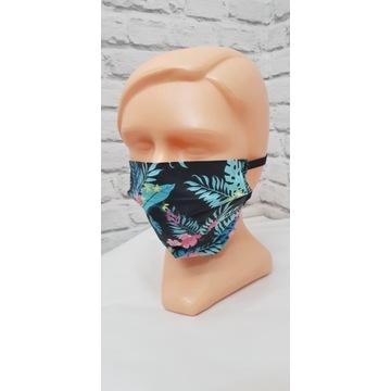 Maska bawełniana kolorowa dwie warstwy