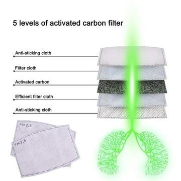 N95 PM2.5 Filtry do maseczki jak podwojna maseczka