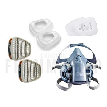 3M Maska 7500 Set z 5935 Wielorazowa P3 antywirus
