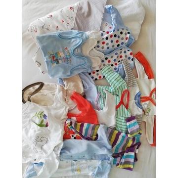 Ubranka dziecięce wyprawka 56-62 body śpiochy
