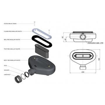 Syfon brodzikowy ROCA A27L039000