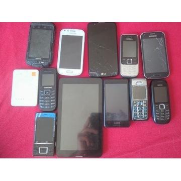 telefony komórkowe uszkodzone odzysk złota części