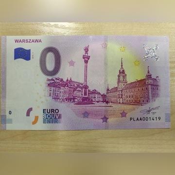 BANKNOT 0 EURO WARSZAWA