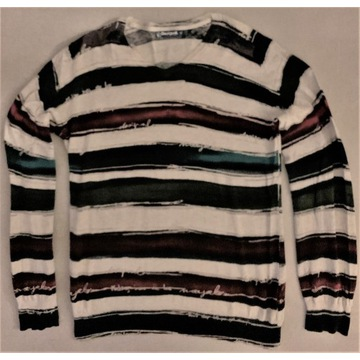 * DESIGUAL * Sweter designerski niespotykany * M *