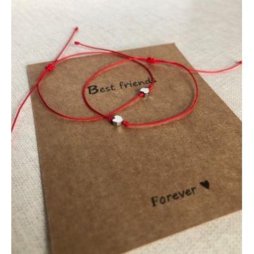 Best Friends bransoletki szczęścia serce srebrne