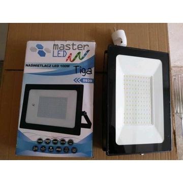 Naświetlacz LED 100W, halogen 500W, statyw