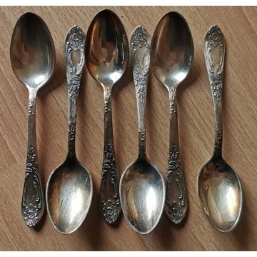 6 srebrnych łyżeczek ZSRR