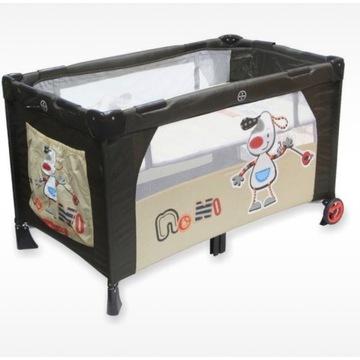 Łóżeczko turystyczne dla dziecka dwupoziomowe