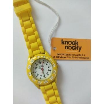 Żółty zegarek dla dzieci Knock Nocky SP37320