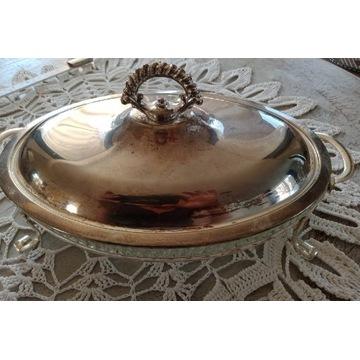 Naczynie do serwowania potraw, plater + kryształ