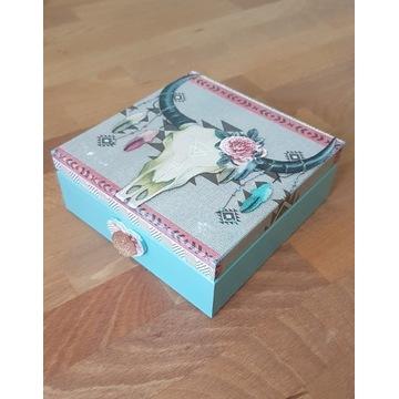 Pudełko szkatułka na biżuterię etniczny wzór