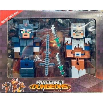 Zestaw Figurki Minecraft Dungeons-wysyłka z Polski
