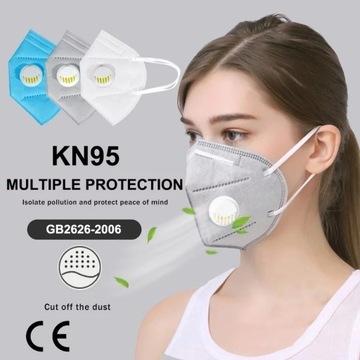 Maska Maseczka wielorazowa FFP2, KN95, P2 zaworek