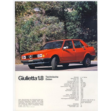 Folder Alfa Romeo Giulietta 1.8   z 1979r