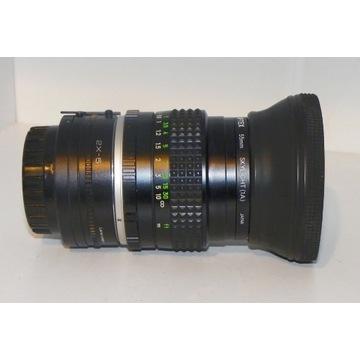 MINOLTA MC ROKKOR-PG 50/1.4 + konwerter + filtr